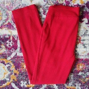 RAFAELLA Pull On Red Ankle Slacks Pointe Pants 10